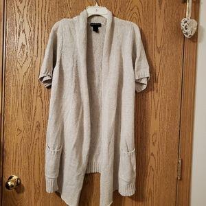 Lane Bryant short sleeve tan cardigan SZ 22/24